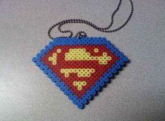 Superman Perler Bead Necklace