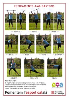 Stretching with poles www.nordicwalking-girona.blogspot.com