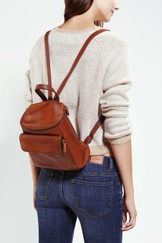Vintage Small Leather Backpack