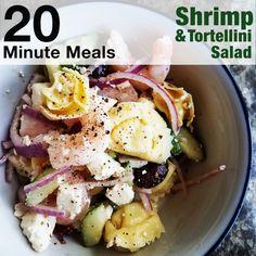 Quick shrimp and tortellini salad