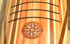 Nice marquetry! Wooden Kayak, Wooden Boats, Paddle Boat, Paddle Boarding, Canoes, Kayaks, Sea Kayak, Wooden Boat Building, Marquetry
