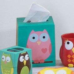 Owl bathroom set