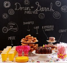 chalkboard backdrop--this is pretty awesome.  need to find a chalkboard!!!