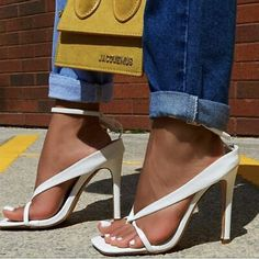 High Heels Stilettos, Stiletto Heels, Heeled Flip Flops, Sandals Outfit, Romper Pants, Blouse Outfit, High Jeans, Party Fashion, Buy Shoes