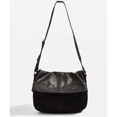 TopShop Sam Suede Leather Flap Shoulder Bag ($85) ❤ liked on Polyvore featuring bags, handbags, shoulder bags, black, flap shoulder bag, shoulder hand bags, topshop handbags, suede handbags and shoulder handbags