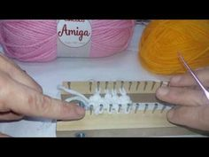 Broomstick Lace, Loom Knitting Patterns, Fabric Painting, Home Textile, Crochet Projects, Weaving, Make It Yourself, Youtube, Textiles