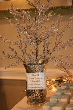 winter bridal shower - Kara's Party Ideas