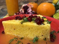 Orangey Besan Dhokla - No Sugar