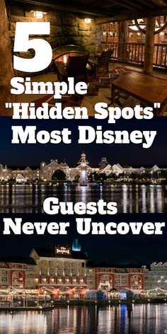 """Five Simple """"Hidden Spots"""" Most Disney World Guests Never Uncover Walt World is full of hidden gems and bucket list experiences, but today we're looking at a few Disney World Hidden Spots that the average WDW guest would overlook entirely. From Wi Disney World Resorts, Disney World Secrets, Disney World Vacation Planning, Disney World Florida, Disney World Parks, Disney Planning, Disney World Tips And Tricks, Disney Tips, Disney Fun"""