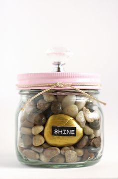you rock jars.  really cute idea.