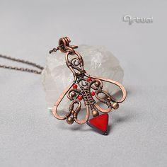 Copper pendant wire jewelry wire pendant wire wrap by Artual