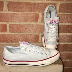 dd3b1e2f2d9a Shop Women s Converse size 8 Sneakers at a discounted price at Poshmark.  Description  Converse all star Chuck Taylor Size low cut Blue ox Canvas  fountain ...