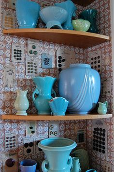 Pottery and button card collection
