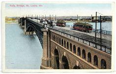 Eads Bridge St. Louis Missouri Streetcars Vintage Antique Postcard 1916 VGUC 16083 by QueeniesCollectibles on Etsy