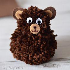 Simple Pom Pom Bear Craft - Easy Peasy and Fun