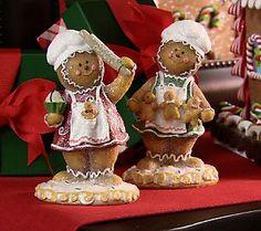 Set of 2 Sugared Gingerbread Children by Valerie (kitchen)