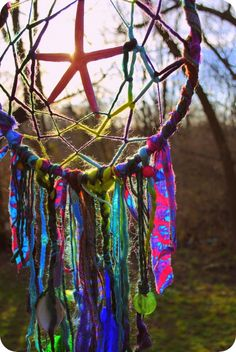 Dream catcher made of scrap cloths