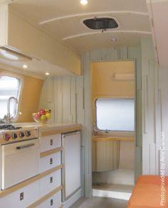 airstream makeovers | glamping ~ interiors / '71 airstream makeover II