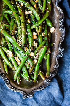 Stovetop Thai Green Beans (with a delicious peanut sauce) | Ambitious Kitchen