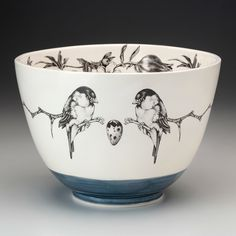 Handmade homeware collection including ceramic dinnerware, serviceware, and textiles for the home. Ceramic Bowls, Ceramic Pottery, Blue Pottery, Chawan, Large Bowl, Earthenware, Vermont, Dinnerware, Lust