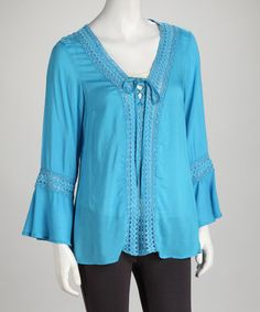 Take a look at this Tora Lace V-Neck Top by Ami Sanzuri on #zulily today!