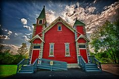 Sweet little red church on the way to PA Grand Canyon.