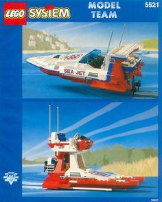 LEGO 5521 Sea Jet (part of my collection) Lego Books, Lego System, Vintage Lego, Lego Group, Lego Design, Lego Models, Lego Instructions, Legoland, Lego Sets