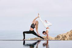 @ashleygalvinyoga and @taliasutra are featured in the West Coast Legging and Illuminate Bra #aloyoga #beagoddess