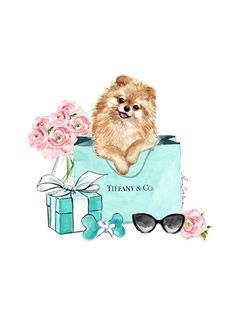 Spitz Dog Tiffany and Co Illustration by artist Irina Sibileva, shop . Spitz Dog Tiffany and Co Illustration by artist Irina Sibileva, shop . Check Out Miniature Schnauzer Size MILEY 3 37 ideas for jewerly tiffany and co bracelet jewellery Coco Chanel Wallpaper, Spitz Dogs, Chanel Art, Illustration Mode, Fashion Wall Art, Pomeranian Puppy, Tiffany And Co, Tiffany Blue, Cute Wallpapers