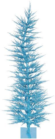 Whimsical 3' Sky Blue Laser Artificial Christmas Tree