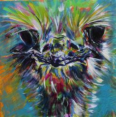 Animal Painting - The Look by Karin McCombe Jones