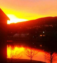 Sunrise over Drammen, Norway