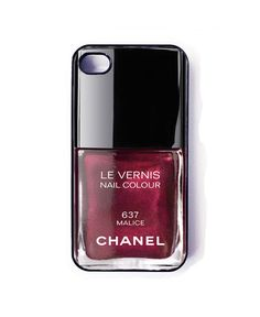 iphone 5 case - chanel nail polish phone cover - iphone5 cover. $15.55, via Etsy.