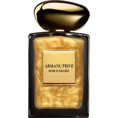 Giorgio Armani Rose D'Arabie L'Or Du Desert (€295) ❤ liked on Polyvore featuring beauty products, fragrance, perfume, giorgio armani, giorgio armani perfume, rose perfume, gold perfume and rosebud perfume