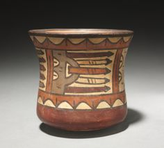Bowl with Trophy Heads, c. 100-650 Peru, Nasca, Early Intermediate Period