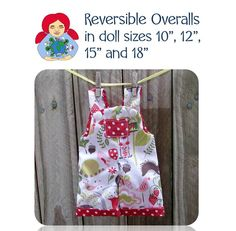 Reversible Overalls for Waldorf Style dolls PDF pattern and tutorial by Sami Dolls This is a PDF pattern and tutorial for a dress to fit your , and Sami doll and other dolls with similar measurements. Doll Dress Patterns, Clothing Patterns, Ag Dolls, Girl Dolls, Baby Doll Accessories, Sewing Hacks, Sewing Tips, Sewing Projects, Bitty Baby