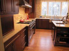 Black Kitchen Cabinets with Glass Doors | Best Black Kitchen ...