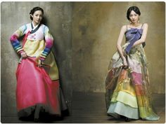 Hanboks by MeHee Kim. Renting one of these beauties for my reception!