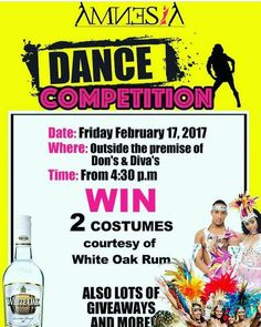The competition is on TOMORROW! Come out and support our dance crew D3_2. We are about to mash up the place! Yall aint ready for the explosion thats about to go down! Come witness another spectacular display of raw talent on the streets of Roseau as we go up against other dancer crews for the number 1 spot! Its about to be LIT  miss