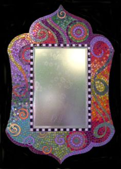 That is such a piece of artwork - Arabesque mosaic mirror by Tamaris Landsman, Eugene, Oregon