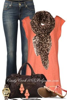 I need a shirt this color. Have a floral scarf and the rest.                                                                                                                                                      More