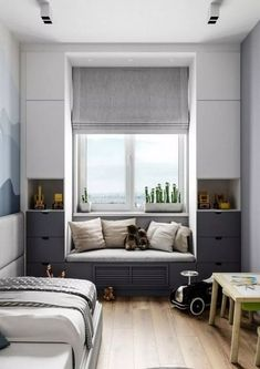 Insanely Bedroom Storage Ideas - To make this happen, you can start by changing the bedroom storage. Here are some bedroom storage ideas for your home Home Bedroom, Bedroom Decor, Master Bedroom, Girls Bedroom, Bedroom Nook, Bedroom Closets, Bedroom Retreat, Bedroom Plants, Playroom Decor