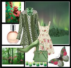 """Green & Pink"" by lulurose98 ❤ liked on Polyvore"