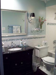 """I was just admiring the general splendour"" - Elizabeth Bennet (Jane Austen's Pride & Prejudice) Hall Bathroom, Basement Bathroom, Bathroom Ideas, Master Bathrooms, Washroom, Bathroom Cabinets, Bath Ideas, Bathroom Remodeling, Turquoise Cabinets"