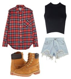 """Jenna"" by piperwrite ❤ liked on Polyvore featuring R13, Glamorous, Chicnova Fashion and Timberland"