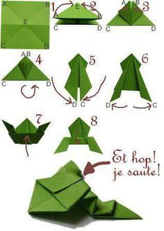 fácil crianças simples diversão Origami Frog (fun and easy) for playing with children Frog (fun and eas. Origami Frog (fun and easy) for playing with children Frog (fun and easy) for playing with children. Origami Design, Instruções Origami, Origami Ball, Origami Dragon, Paper Crafts Origami, Useful Origami, Easy Origami For Kids, Origami For Children, Diamond Origami