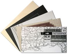 1-color biz card // #letterpress
