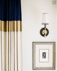 Color Block Drapes Curtains Custom Lengths Extra Long Extra Wide Linen Lined Navy Blue Gold Beige Off White Tall High Tri Color Panels by PeninsulaDesigns on Etsy