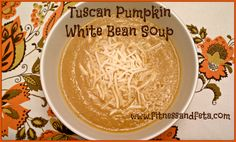 Tuscan pumpkin white bean soup