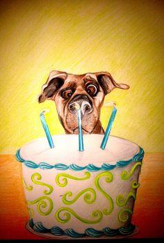Birthday dog---this looks like Bandit!! :)